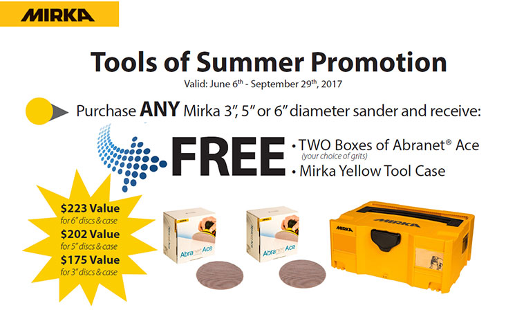 Mirka Summer Tools Promo